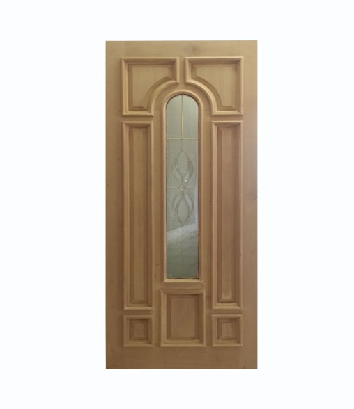 Puerta Modelo Majestic con Vitral Cedro color Natural
