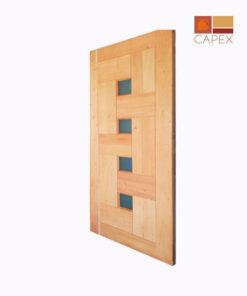 Puerta Modelo Dominó Cedro color Natural
